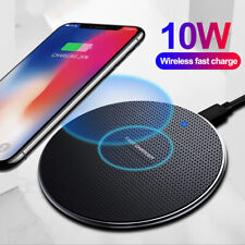 10W Fast Wireless Charger Qi Charging Pad For Galaxy S10+ iPhone 11 Pro Xs Max