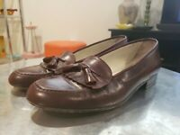Bally Made In Italy Oxblood Leather Tassle Loafers Mens Size 9.5 M