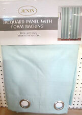 1 LIGHT BLUE PANEL BLACKOUT HEAVY THICK SILVER GROMMET WINDOW CURTAIN LINED JQ