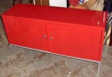 Sideboard aus Metall rot lackiert Kommode Blechschrank Ablage Aktenschrank