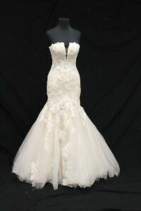Martina Liana ML1211 Bridal Wedding Gown Dress sz 10