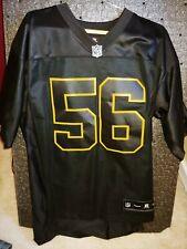 84338da95d7 Pittsburgh Steelers LAMARR WOODLEY Men s Rare all black Sewn Reebok jersey  SZ M