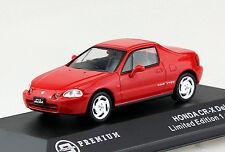 Honda CR-X Del Sol rot 1992 1:43 Triple 9  Modellauto 10020
