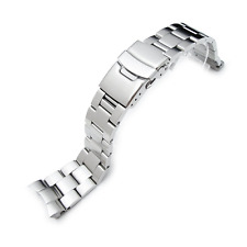 22mm Super OSTRICA tipo II watch band per SEIKO diver skx007 / 009/011 finale CURVO