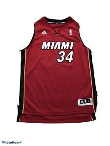 Adidas Ray Allen Miami Heat Swingman Jersey Kids Size Large 19.5x25.5 Jesus
