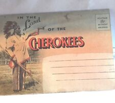 VINTAGE POSTCARDS / CULTURES / CHEROKEES / SET / SMOKY MTS. / LONE EAGLE / COLOR