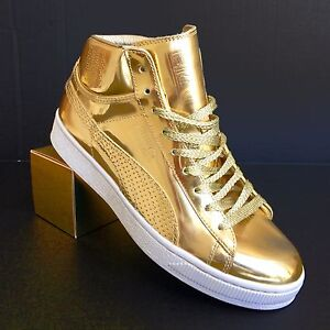 PUMA UNDFTD 24K Mid Mirror Gold Edition Sneakers size 9.5