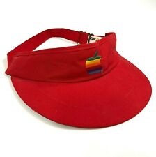 Apple Macintosh Mac Red Visor Hat Rainbow Apple Adjustable iMac iPhone Vintage
