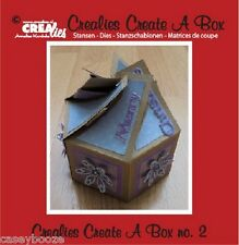 Crealies Create A Box Die - Wedding Favours - Birthday - Christmas - CCAB02