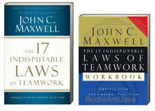 17 Indisputable Laws of Teamwork Book & Workbook (pb) John C. Maxwell - 2 Books
