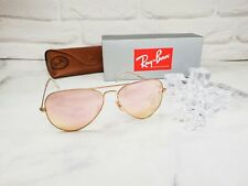 Ray Ban Men's Sunglasses Aviator RB3025 112/Z2 Gold Pink Mirrored