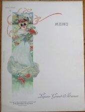 Grand Marnier 1910 Art Nouveau French Advertising Menu - Duchesse de Berry