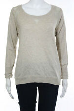Haute Hippie Beige Silk Long Sleeve Knit Top Size XS