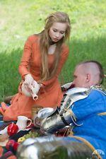 """20% DISCOUNT! """"Red Elise"""" medieval dress for SCA, LARP, SIZE 4 orange color"""