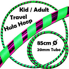 Pro Hula Hoop for Kids -Quality Weighted Travel Hula Hoop (Green/Purple |Glitter
