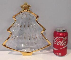 Yuletide Spirit Gold Christmas Tree Gold-Trimmed Sweet Dish WX025/503