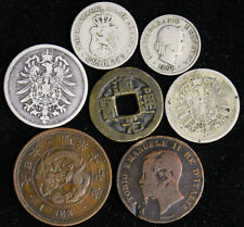 Lot of Old World Foreign Coins 1800s Germany Bulgaria Switzerland Japan China It
