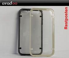 2x iPhone 4 / 4S Case Bumper Transparent TPU Schwarz Weiß