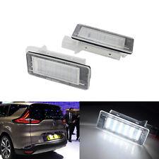 2 Blanc Feux Eclairage de Plaque LED Voiture Pour Renault Espace 4 Scenic Laguna