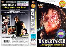 "VHS - "" UNDERTAKER ... his gravest matches "" - WWF - Wrestling"