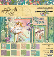 Graphic45 FAIRIE DUST 8x8 PAPER PAD scrapbooking (24) SHEETS (8) DESIGNS