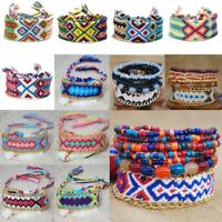 Handmade Boho Woven Friendship Bracelet Braided Wristband Women Men Fashion Hot