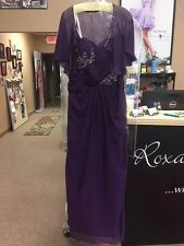 Serena London 17726 Eggplant Chiffon Mother of the Bride Gown Dress sz 12