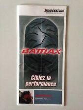 MINI CATALOGUE GAMME MOTO ROUTE // BATTLAX BRIDGESTONE