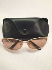 Ray-Ban Sunglasses Oval Style Frames Rose Gold Tinted Lens Casual Case 281795
