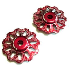 TOKEN TK1732 CAMPY Rear Derailleur Jockey wheel / Pulley, 11T, Red, Z08