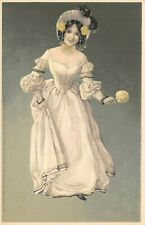 More details for rare vintage meissner & buch postcard, beautiful woman lady, fashion 98u