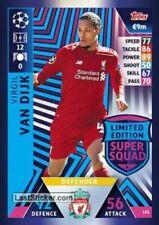2018 19 UEFA Match Attax Virgil van Dijk Limited Edition Card Super Squad LE5