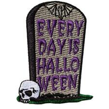 Kreepsville 666 Every Day Is Halloween Tombstone Goth Horror Iron On Patch PEDH