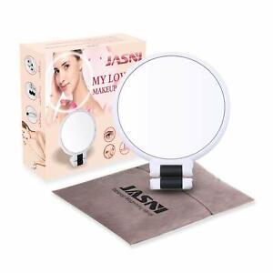 15X 2-seitige Tischplatte Make-up Spiegel Vergrößerung Spiegel 360° Rotation