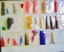 Mixed Lot of Glass Seed Beads and Crystals Lot of Color Crystals Magnetic