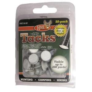 HME Plastic Reflective Tacks White 50 Pack