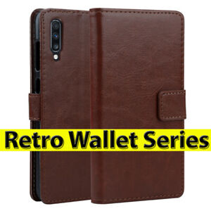 Case For Samsung Galaxy A20e A40 A50 A70 Vintage Leather Wallet Magnetic Cover