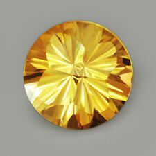 "3.2Ct Golden Citrine ""Blosso-Fl​ower"" Precious Fancy Cut Faceting QYH181-1"