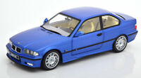 BMW M3 E36 ESTORIL BLUE COUPE 1:18 SCALE MODEL SUPERB DETAIL CLASSIC DIECAST NEW