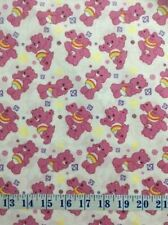 Care Bears Sparkle and Shine Sparkles White Cotton Quilting Fabric 1/2 YARD