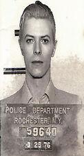 """32"""" x 20"""" paper for glass frame poster David Bowie Mugshot NY Police arrest"""