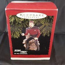Star Trek Commander William T Riker Hallmark Keepsake Christmas Ornament 1996