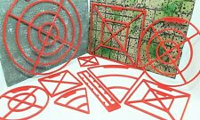 10 Piece D&D Spell Gauge Template Marker Set Cube Cone Circle &Line 3D Printed