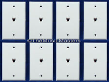 8X Modular Flush Mount Phone WALL PLATE JACK TELEPHONE Line Outlet Cover VWLTW