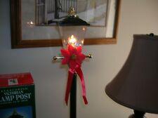 "Santas Best Christmas Victorian Lamp Post Electric Lantern 30"" Telescoping Black"