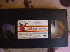 "WALT DISNEY RARA VHS ""DUCK TALES CENERENTOLO"" EX NOLEGGIO SENZA COVER E CUSTODIA"