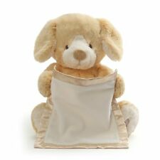 """Peek-A-Boo Interactive, Animated Sound, Puppy- Soft Plush Toy, Tan,10"""" High NWT"""