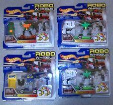 (4) Vintage 2002 Mattel Hot Wheels ROBO WHEELS Transformautos NEW / OLD STOCK