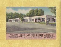 VA Winchester 1931-49 postcard ELMS MOTOR COURT HW 11 M & M WATSON OWNERS