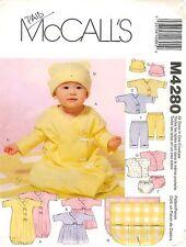 McCall's M4280 Sewing Pattern Infants Layette Hat Blanket Factory Folded Uncut